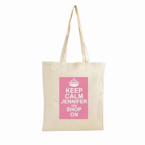 Keep Calm Personalised Cotton Bag