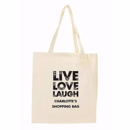 Live Love Laugh Personalised Cotton Bag