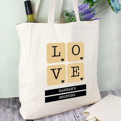Love Tiles Personalised Cotton Bag