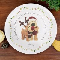 Boofle Personalised Christmas Reindeer Mince Pie Plate