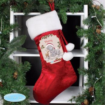 Me To You Reindeer Luxury Personalised Stocking Decoration