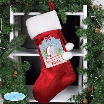 Tiny Tatty Teddy My 1st Christmas Luxury Personalised Stocking Decoration