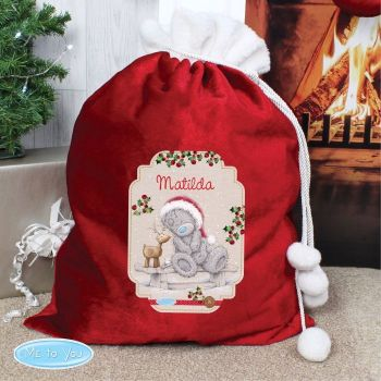 Me To You Reindeer Luxury Personalised Sack