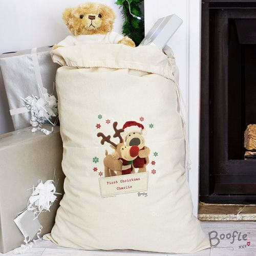 Boofle Reindeer Personalised Cotton Sack