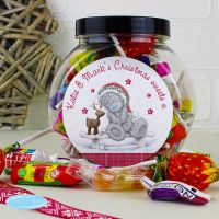 Me To You Reindeer Christmas Personalised Sweet Jar