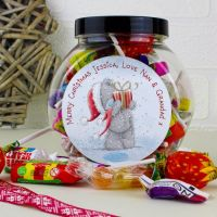 Me To You Christmas Personalised Sweet Jar
