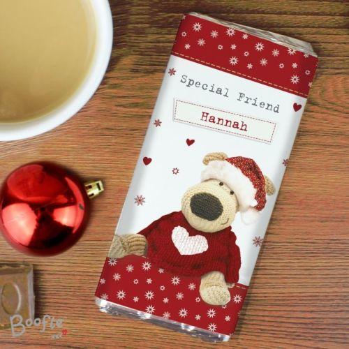 Boofle Christmas Personalised Chocolate Bar