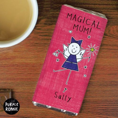 Purple Ronnie Fairy Christmas Personalised Chocolate Bar