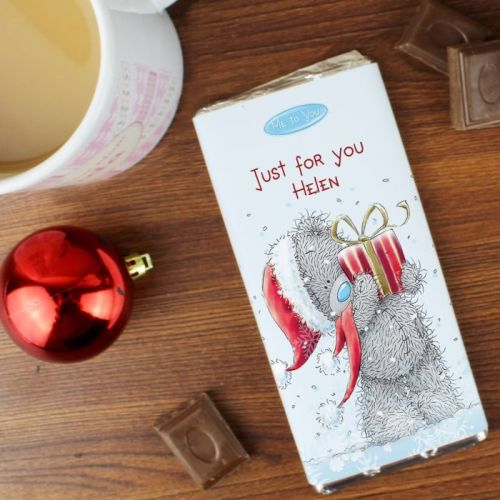 Me To You Christmas Personalised Chocolate Bar