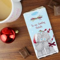 Me To You Couple Christmas Personalised Chocolate Bar