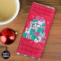 Purple Ronnie Presents Christmas Personalised Chocolate Bar