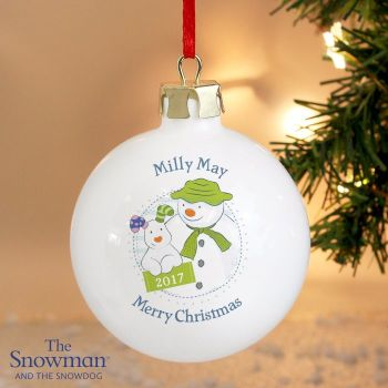 The Snowdog and The Snowdog Year Ceramic Bauble Decoration