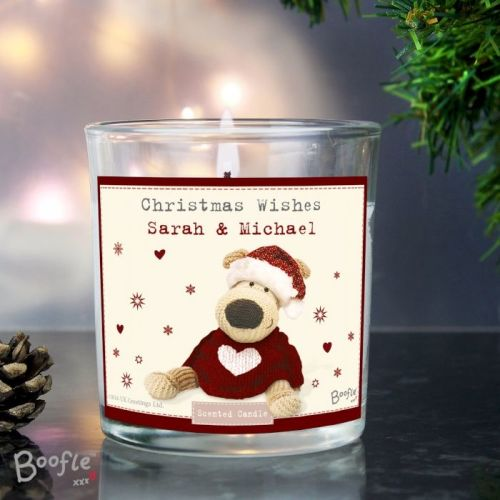 Boofle Personalised Scented Jar Candle