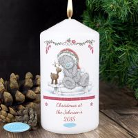 Me To You Reindeer Personalised Pillar Candle