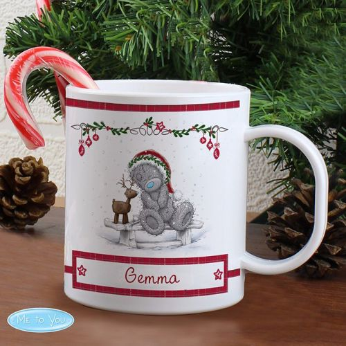 Me To You Reindeer Personalised Plastic Mug