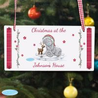Me To You Reindeer Christmas Personalised Wooden Sign