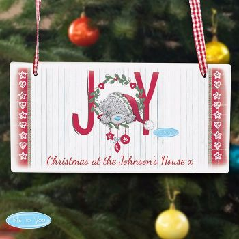 Me To You JOY Christmas Personalised Wooden Sign