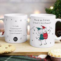 Purple Ronnie Christmas Elves Mug