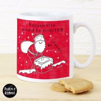 Purple Ronnie Male Santa Christmas Mug