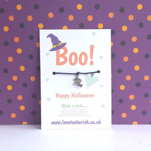 Boo! Witch Charm Halloween Wish Bracelet
