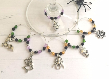 Halloween Wine Glass Charms Pk6