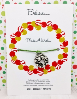 Christmas Bauble Wreath Wishing / Friendship Bracelet