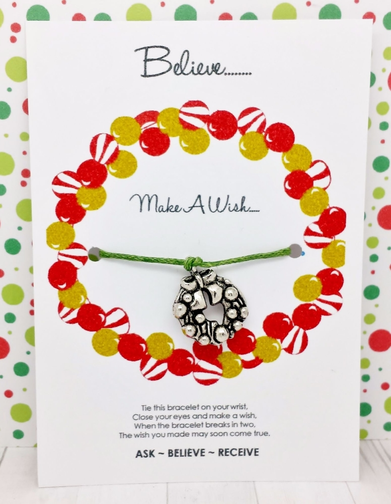 Christmas Bauble Wreath Wishing / Friendship Bracelet