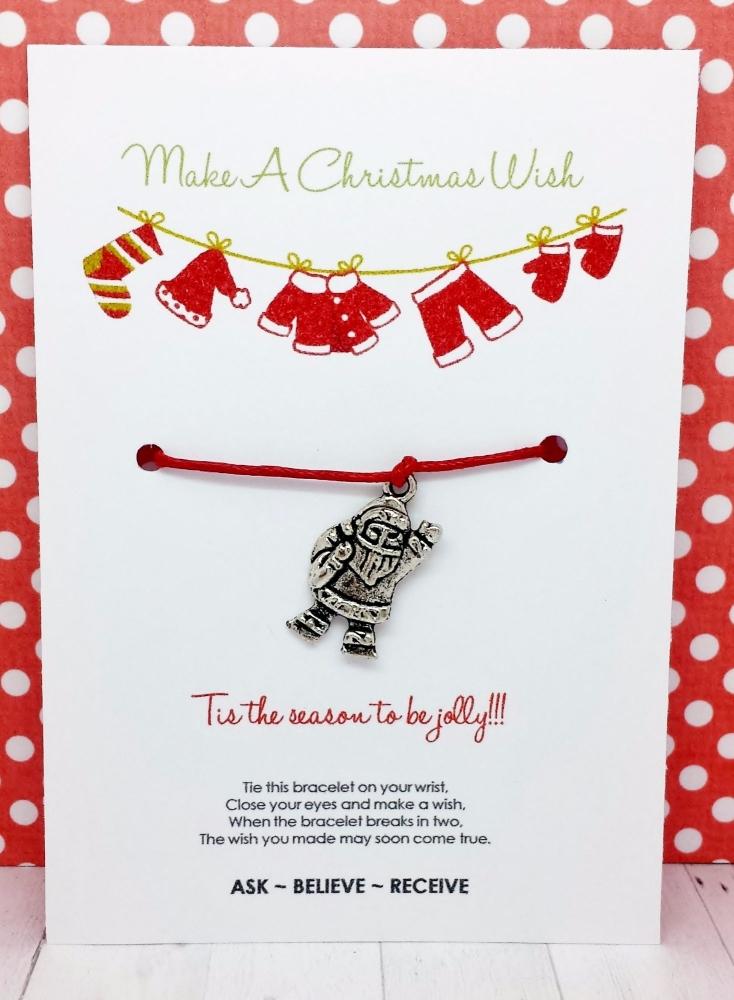 Christmas Santa Suit Wishing / Friendship Bracelet