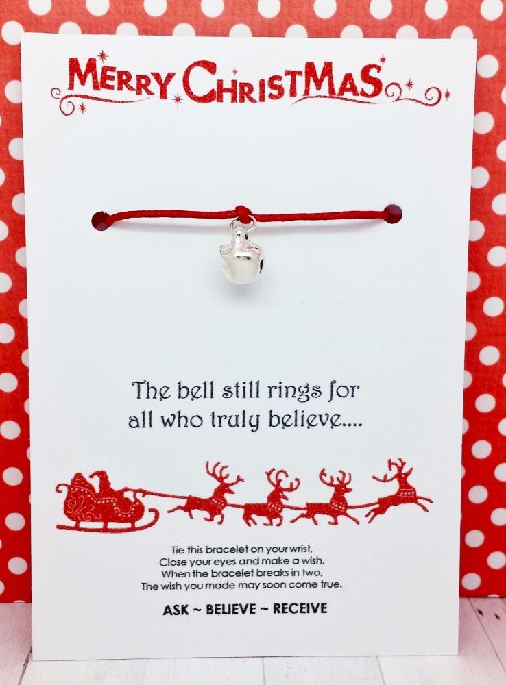 Christmas Sleigh Bell Wishing / Friendship Bracelet