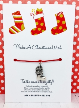 Christmas Stockings Wishing / Friendship Bracelet