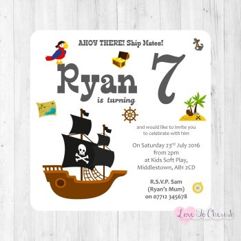 Boys Party Invites and Thank You Cards