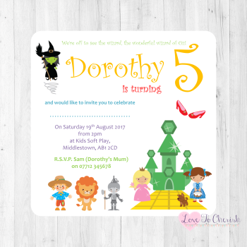 Nursery Rhyme and Fairytale Invitations and Thank You Cards
