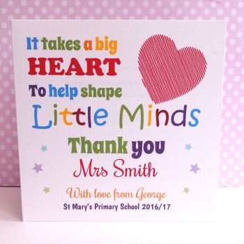 Teacher Personalised Cards