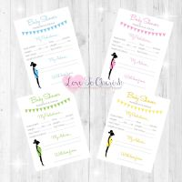 Mummy Bump Baby Shower Prediction & Advice Game Cards