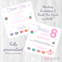 Afternoon Tea Party Invitations & Thank You Cards