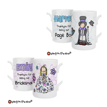 Bang On The Door Personalised Girl's or Boy's Wedding Mug