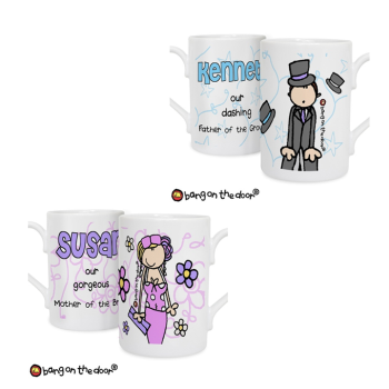 Bang On The Door Personalised Male or Female Wedding Mug