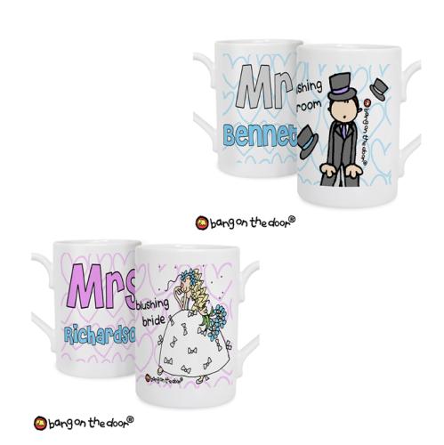 Bang On The Door Personalised Mr or Mrs Slim Mug