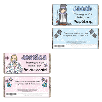 Bang On The Door Personalised Wedding Girl's or Boy's Milk Chocolate Bar