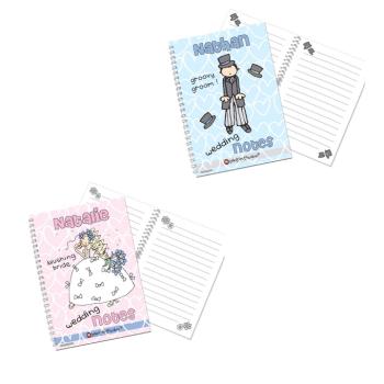 Bang On The Door Personalised Bride or Groom A5 Wedding Notebook