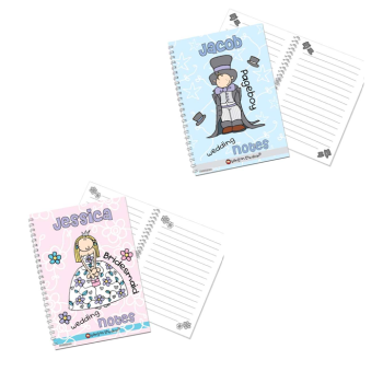 Bang On The Door Personalised Girl's or Boy's Wedding Notebook