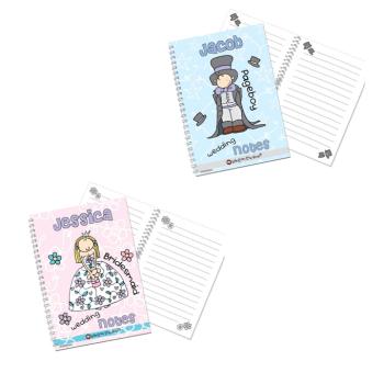 Bang On The Door Personalised Girl's or Boy's Wedding Notebook