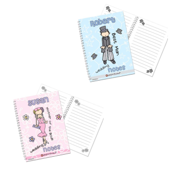 Bang On The Door Personalised Male or Female Wedding Notebook