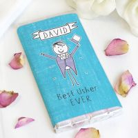 Purple Ronnie Personalised Male Wedding Milk Chocolate Bar
