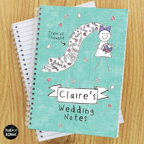 Purple Ronnie Personalised A5 Wedding Notebook
