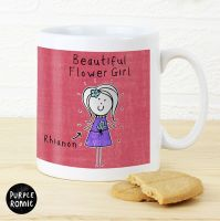 Purple Ronnie Personalised Female Wedding Mug