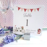 Vintage Tandem Bike/Bicycle Shabby Chic Table Numbers or Names