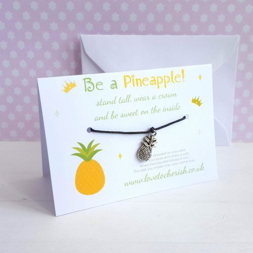 Be A Pineapple Stand Tall Wear A Crown Friendship / Wish Bracelet