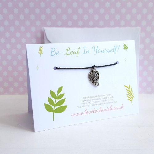Be-Leaf (Believe) In Yourself Friendship / Wish Bracelet