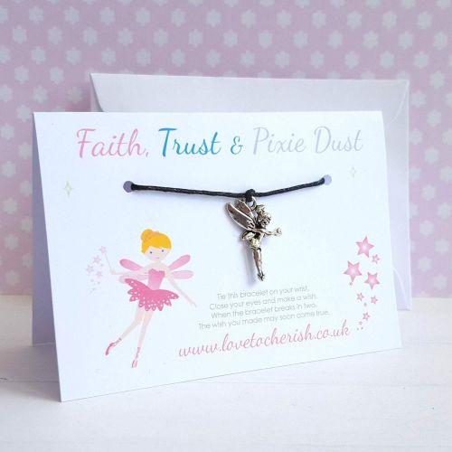 Faith, Trust and Pixie Dust Friendship / Wish Bracelet